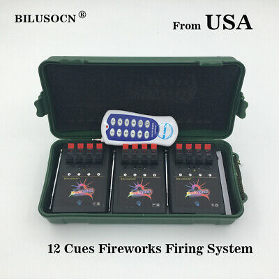 Profession 12 Cue Wireless Fireworks Firing system Remote control US Shipping