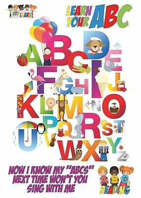 Lets Learn The Alphabet : Encapsulated A3 Kids Educational Poster