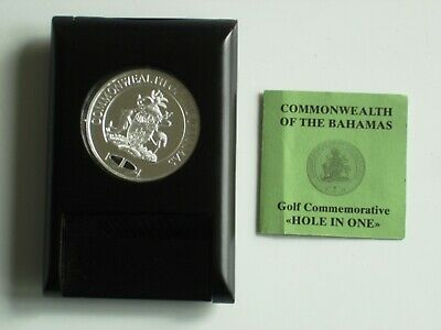 Bahamas 5$ Silver Proof 1994 The Golf Coin - Hole in One with CoA & Holder