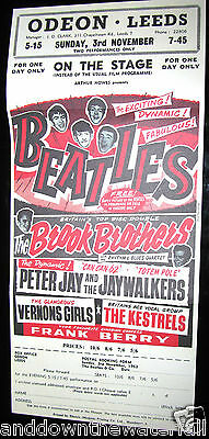BEATLES Poster Odeon Leeds Southport Print Retro 60s Old Rock n Roll Pop Music
