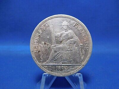 1894 Piastre Silver Coin French Indochine Vietnam