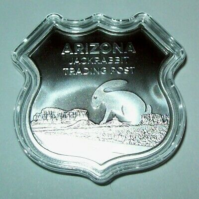 2020 1 troy oz Silver Coin Icons of Route 66 Shield Sign Arizona Jackrabbit