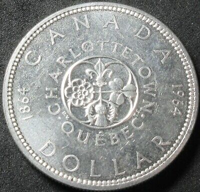 1964 Canada Proof Like Charlottetown Quebec .6 Ounce Silver Dollar Coin
