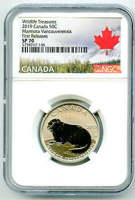 2019 Canada 50 Cent Vancouver Island Marmot Ngc Sp70 First Releases Half Dollar