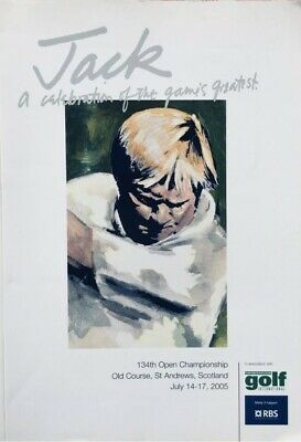 Rare Jack Nicklaus 2005 St Andrews Open Champs Book - Harold Riley Special