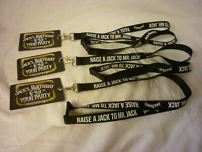 JACK DANIELS LANYARD WITH CLEAR CARD HOLDER