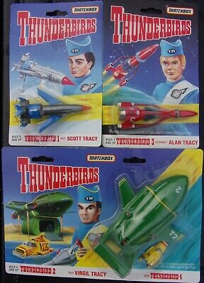 Matchbox Thunderbirds Jet Set 1,2,3 - 1994 #1 Scott #2 Virgil Tracy#3 Alan Tracy