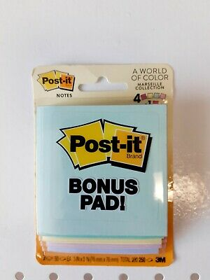 """Post-It 5401 Note Pad 3""""x 3"""", Marseille Collection. FREE SHIPPING!"""