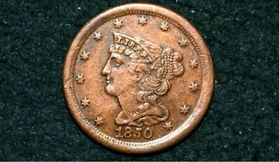 1850 HALF CENT ** XF+ Details** Take 5% Off Right Now !