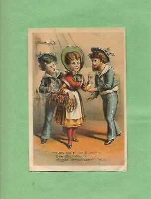 1800s PRESIDENTIAL VOTING RESULTS On HIGGINS LAUNDRY SOAP Victorian Trade Card