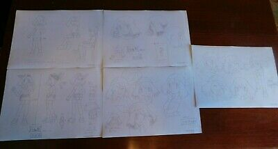Lot of 5 Pokemon Japan Destiny Deoxys Animation Cel Drawing Settei May