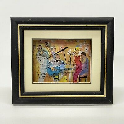 Jean-Pierre Weill Jazz Band Ensemble Vitreography 3D Painting on Glass