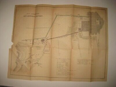 Antique 1847 Mexican American War Battle Of Mexico City Alameda Handcolored Map