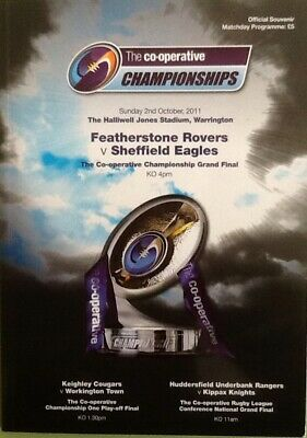 Rugby League Premierships Finals Programme Featherstone V Sheffield  2011