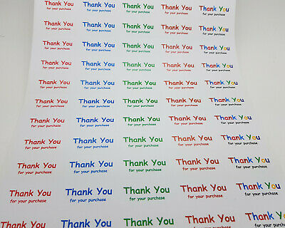 Thank You For Your Purchase Order Rectangle Stickers White - 650 Labels MultiCol