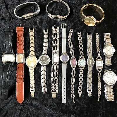 Joblot 12 Wrist Watches All Working Various Styles