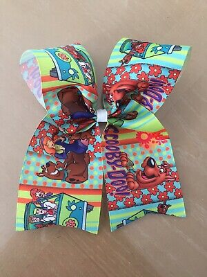 Beautiful~Scooby-Doo~Green~Cheer Bow~Big~Hair Bow~Ribbon~Girls