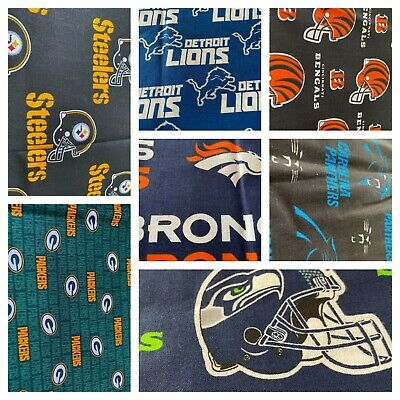 NFL Cotton Fabric 9 Inches x 58 inches (1/4 of a yard)