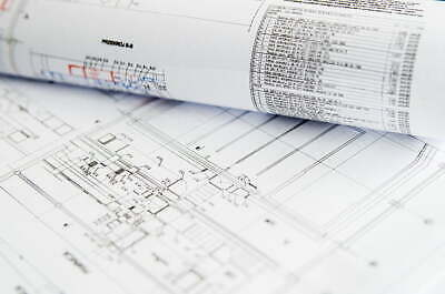 POSTER CAD Technical Plan Drawings 100gsm A0 A1 A2 A3 Prints