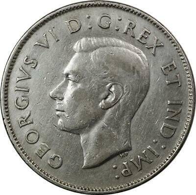 Canada - 50 Cents - 1944 - Silver - George Vi - Cleaned
