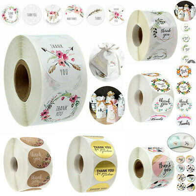 500Pcs Thank You Stickers For Your Purchase Business Labels Round Heart Wedding