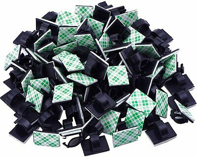100 Pieces Adhesive Cable Clips Wire Management TV cables computer cables