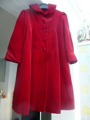 long red velvet coat by BHS age 4+  hardly worn