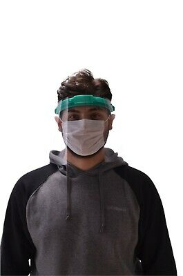 Safety Full Face Shield Clear Flip-Up Visor Transparent Medical Dental Mask