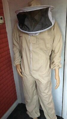 Beekeepers Khaki Bee Suit Beekeeping Coverall Protective Clothing Size Large