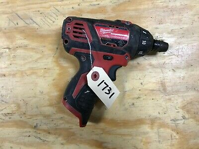 USED Milwaukee  M12 Hex 1/4 Cordless Screwdriver Driver tool only 2401-20 1731