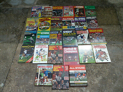 Vintage Joblot Of Football Annuals / Books Free Uk P&P All Pictured Shoot Etc