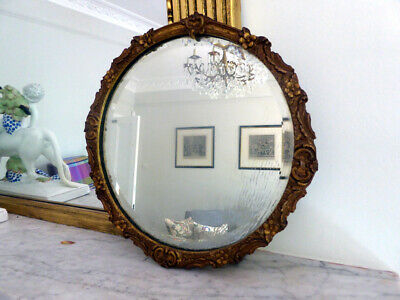 Fine Pair of Matching Circular 19th Century Mirrors with ornate frames,  29 cm