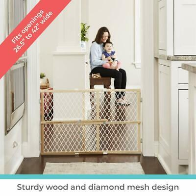 """Toddleroo by North States 42"""" wide Quick Fit Wire Mesh Baby Gate: hassle free"""