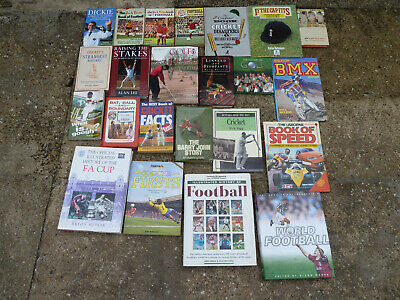 Vintage Joblot Of Sports Annuals / Books Free Uk P&P All Pictured Football Etc