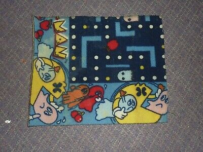 Vintage Pac-Man Carpet Piece 1980s Rug Midway Bally Official Pacman Retro Rare