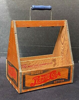 Pepsi:Cola Earliest Edition Wooden 6-Pack Carrier Remarkable Mint Condition Look