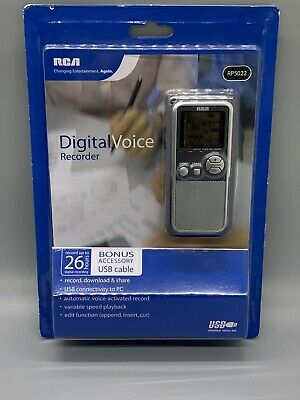 RCA - Digital Voice Recorder (RP5022) - Handheld - (New) -Records Up To 26 Hours