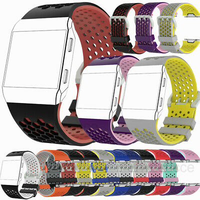 For Fitbit Ionic Silicone Sports Bracelet Replacement Watch Strap Band S L Size