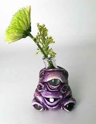Galactic Goo Sculpted Booty Bottle Monster with Amethyst Crystals