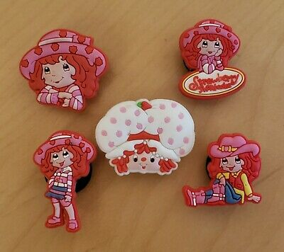 STRAWBERRY SHORTCAKE  SET OF 5 SHOE CHARMS FOR CROCS Sandal JIBBITZ BRACELETS