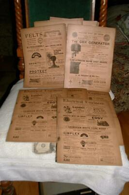 Original (10) months of 1887 The Electrician & Electrical Engineer Magazines-fan