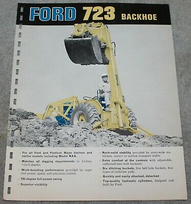 Vintage Ford Dealers Brochure Backhoe 723 1960'S