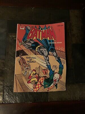 Vintage BATMAN Coloring Book Whitman -- Just 4 Pages Colored!