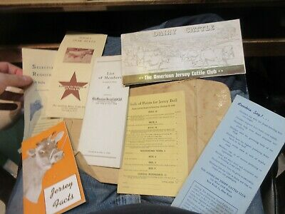 1944 American Jersey Cattle Club New York Membership Roster Star Bulls Cattle