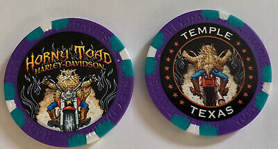 Harley Davidson Poker Chip Horny Toad Harley Davidson   Temple,Texas
