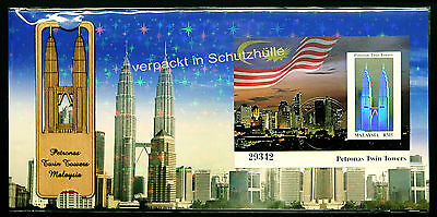MALAYSIA 1999 - Hologram - Petronas TWIN TOWERS Sonderedit. - FDC - Holzvignette