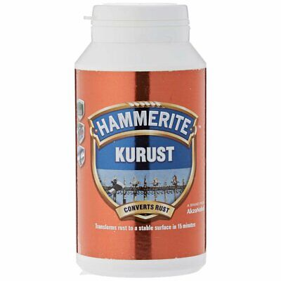 Hammerite Kurust Rust Remover Cleaning Rust Quick & Easy Rust Converter - 250ml