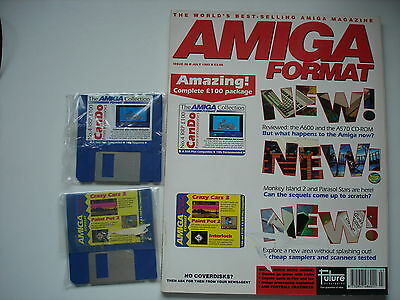 AMIGA FORMAT - July - 1992 -  WITH COVER DISCS