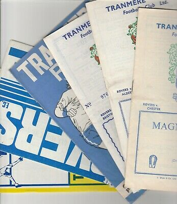 Tranmere Rovers Home Programmes 1965 onwards