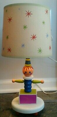 Vintage Nursery Lamp Wood Jack In Box Excellent Condition Darling